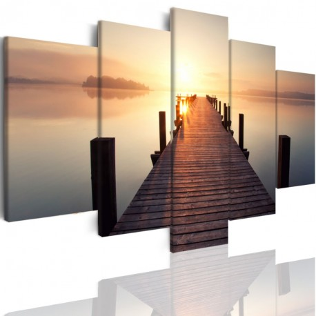 Canvas image spread on the frame 509