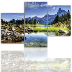 Canvas image spread on the frame 12003