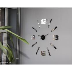Duży nowoczesny zegar na ścianę Mirror Mase NT