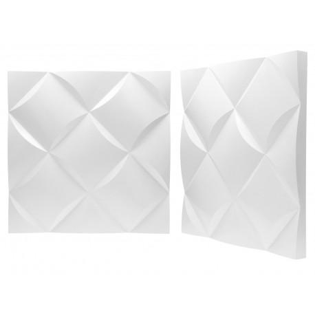 Panel ścienny Gipsowy 3d Wave 50x50cm Ms Decowalls