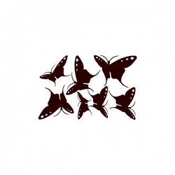 Nástěnná samolepka motiv motýli č. 2