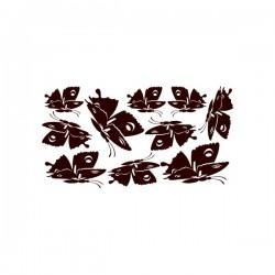Nástěnná samolepka motiv motýli č. 6